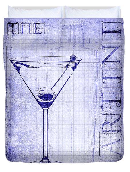 The Martini Blueprint Duvet Cover by Jon Neidert