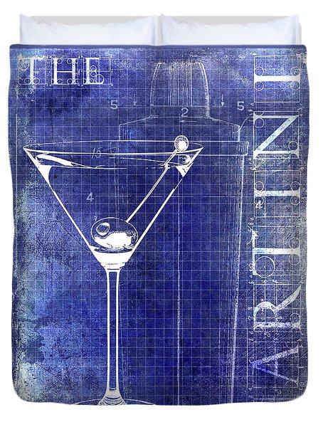 The Martini Patent Blue Duvet Cover by Jon Neidert