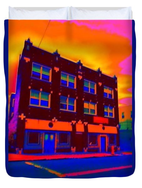 Duvet Cover featuring the photograph The Marz Hotel by Jesse Ciazza
