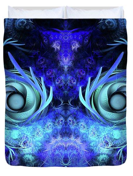 The Mask Duvet Cover by John Edwards