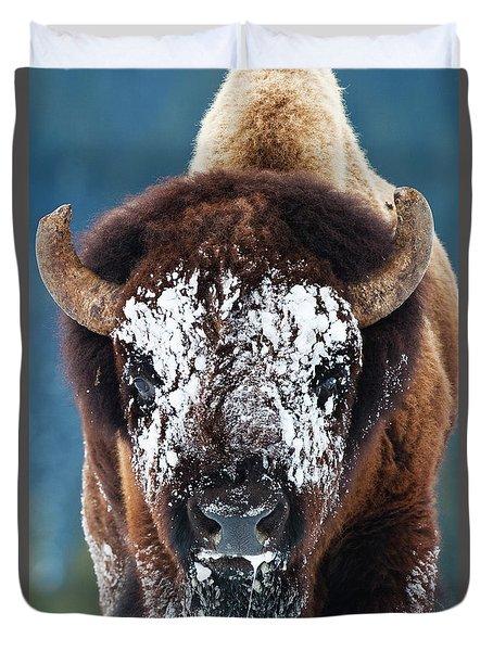 The Masked Bison Duvet Cover