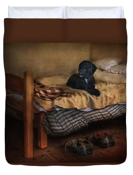The Master's Shoes Duvet Cover by Robin-Lee Vieira