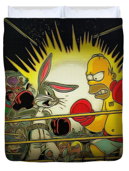 The Match Of The Century Duvet Cover