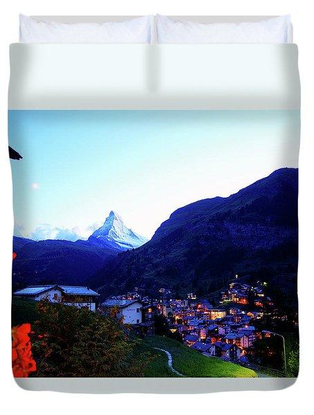 The Matterhorn In Dusk Duvet Cover by Kurick Berry