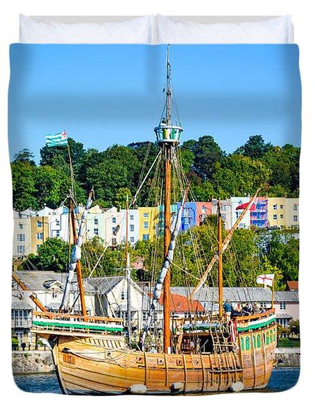 The Matthew In Bristol Harbour Duvet Cover