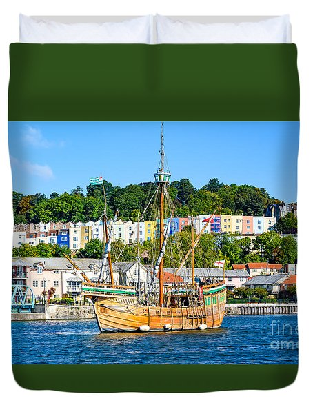 The Matthew In Bristol Harbour Duvet Cover