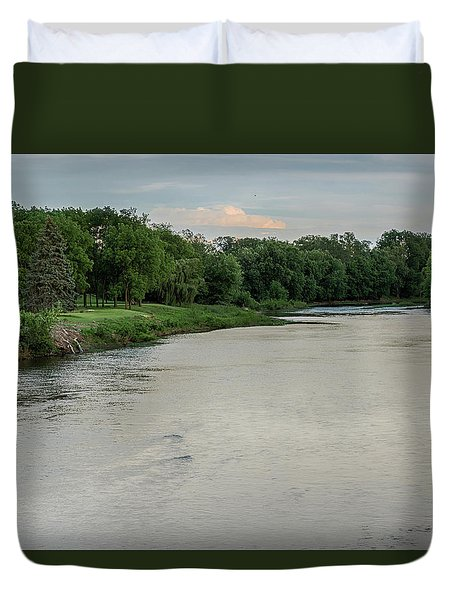 The Maumee River Duvet Cover