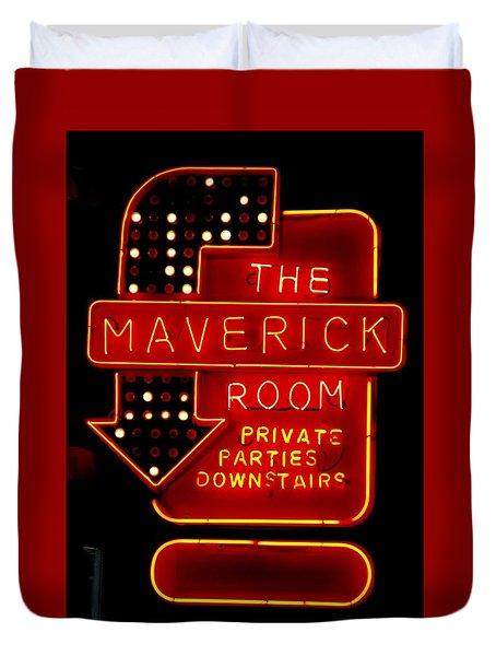 The Maverick Room Duvet Cover by Jeff Gater