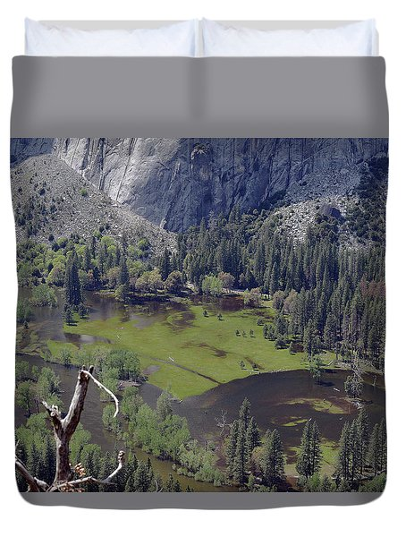 The Meadow From Four Mile Trail Duvet Cover