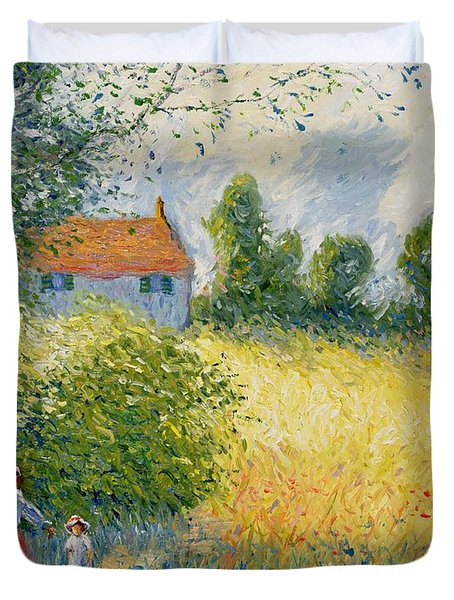 The Meadow Path  Duvet Cover by Richard Kretchmer