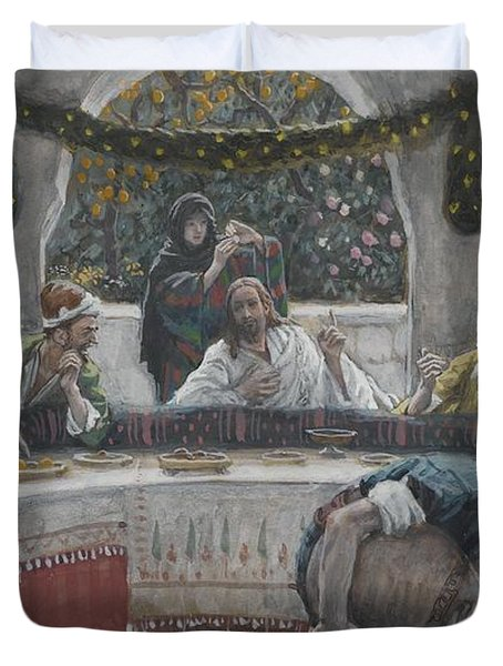 The Meal In The House Of The Pharisee Duvet Cover by Tissot