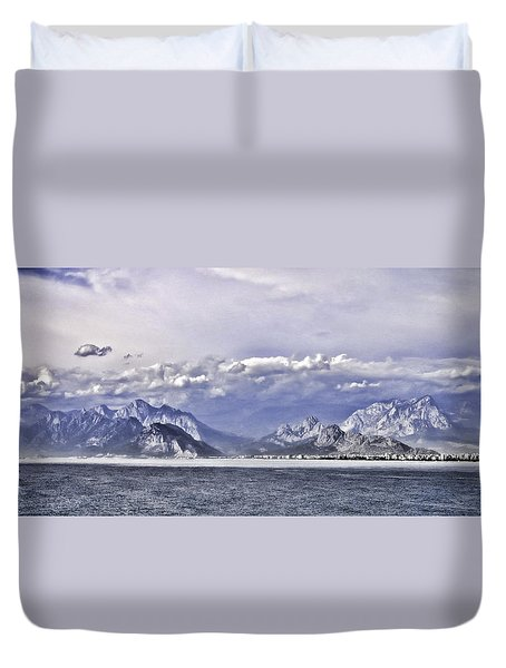 The Mediterranean Coast Duvet Cover