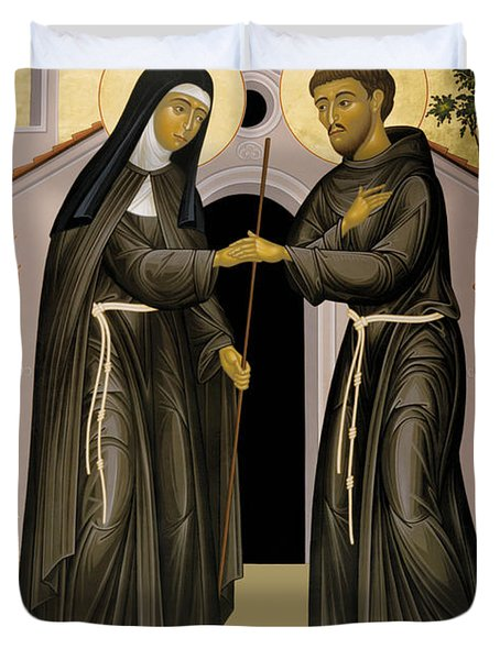The Meeting Of Sts. Francis And Clare - Rlfac Duvet Cover