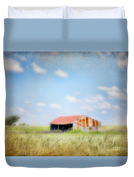 Duvet Cover featuring the photograph The Meeting Place by Betty LaRue