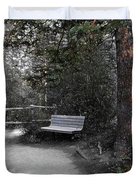 The Meeting Place Duvet Cover by Stuart Turnbull