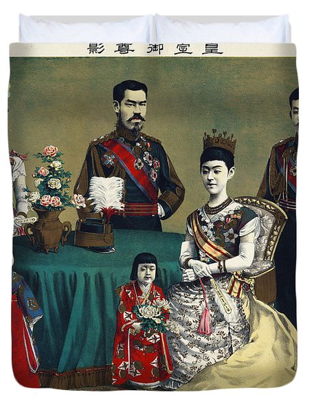 The Meiji Emperor Of Japan And The Imperial Family Duvet Cover