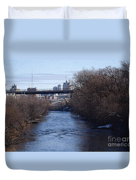 The Menomonee Near 33rd And Canal Streets Duvet Cover by David Blank