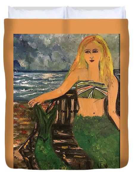 The Mermaid Of Kanaha Pond Duvet Cover