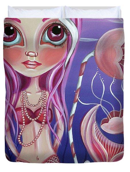 The Mermaid's Garden Duvet Cover by Jaz Higgins