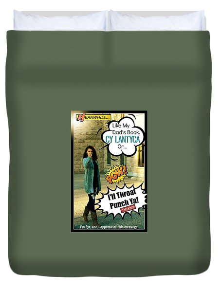 Duvet Cover featuring the photograph The Message by Cyryn Fyrcyd