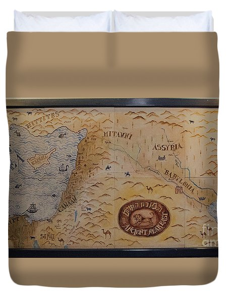 Duvet Cover featuring the photograph The Middle East by Mae Wertz