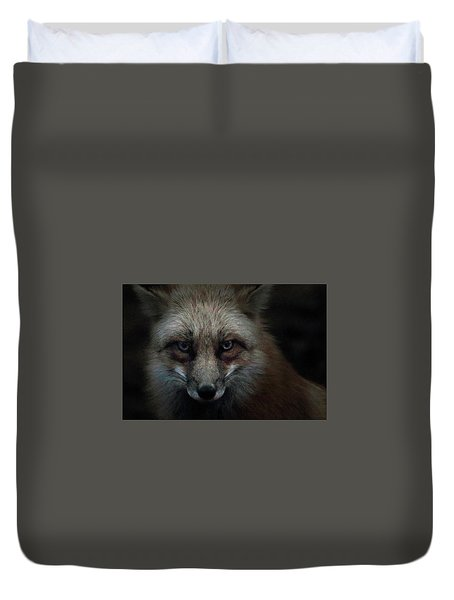 In The Dark Of The Night Duvet Cover