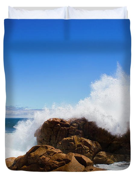 The Might Of The Ocean Duvet Cover