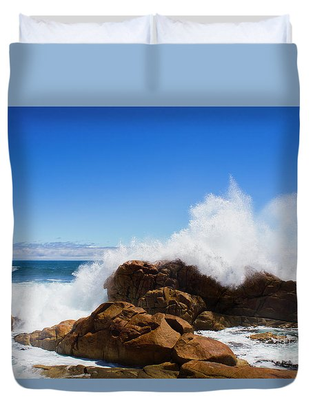 Duvet Cover featuring the photograph The Might Of The Ocean by Jorgo Photography - Wall Art Gallery