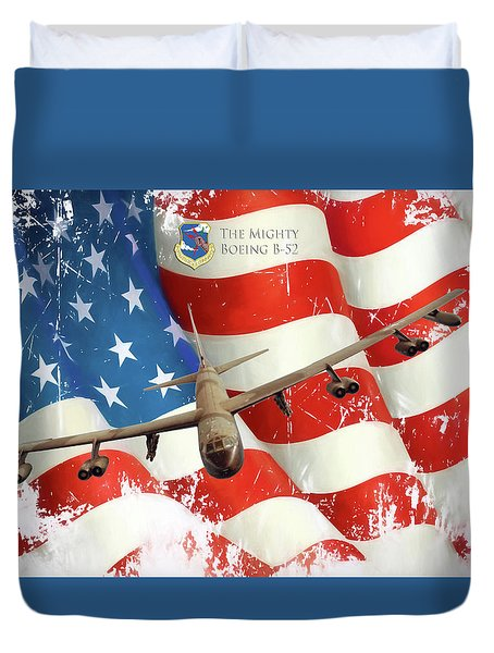 The Mighty B-52 Duvet Cover by Peter Chilelli