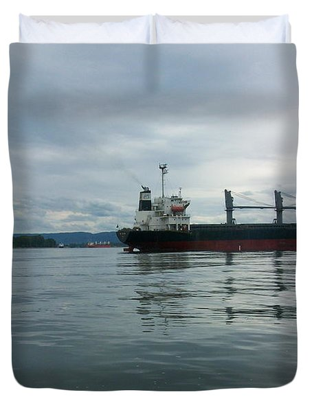 The Mighty Columbia Duvet Cover