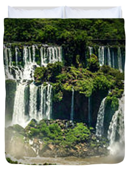 The Mighty Iguazu  Duvet Cover by Andrew Matwijec
