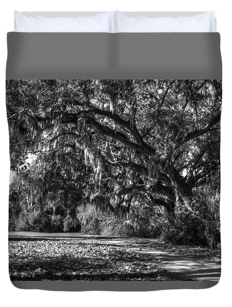 The Mighty Oaks 1 Bw Duvet Cover