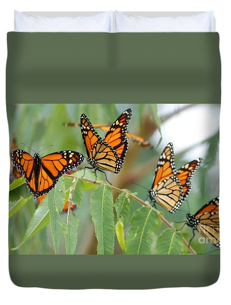 The Migration Of The Monarchs Duvet Cover