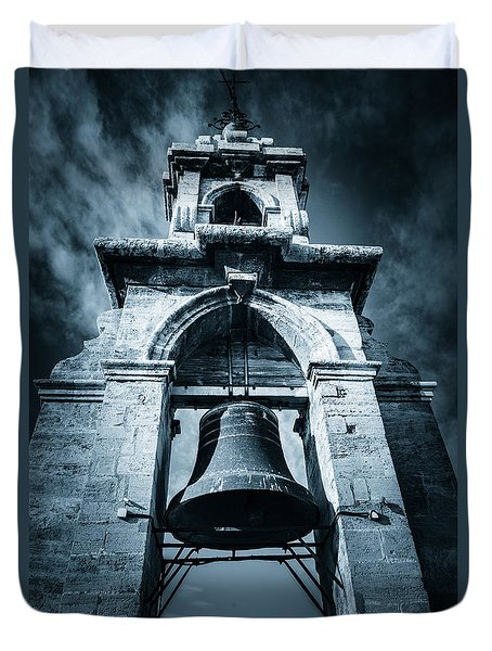 The Miguelete Bell Tower Valencia Spain Duvet Cover