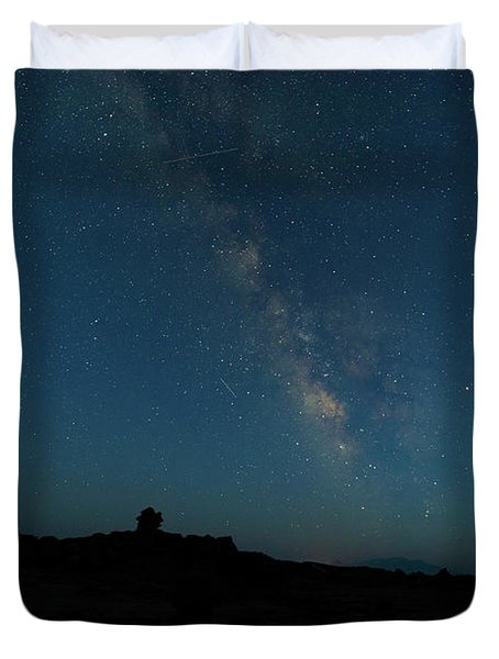 The Milky Way At Goblin Valley Duvet Cover