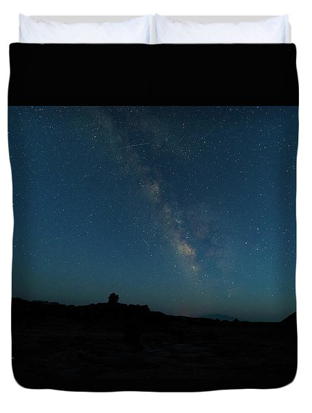 Duvet Cover featuring the photograph The Milky Way At Goblin Valley by Jim Thompson