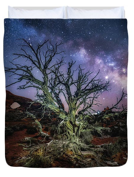 The Milky Way Tree Duvet Cover