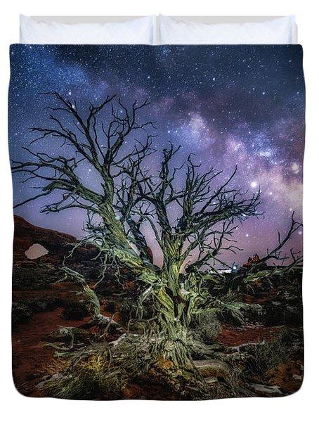 The Milky Way Tree Duvet Cover