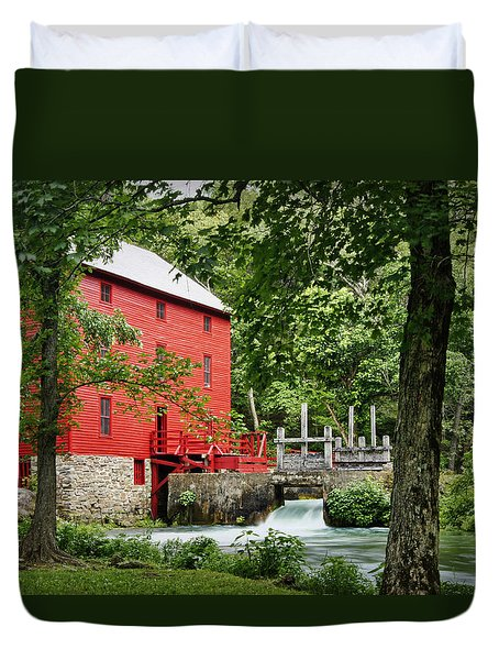 The Mill At Alley Spring Duvet Cover by Cricket Hackmann