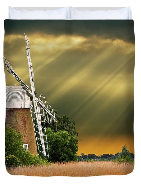 The Mill On The Marsh Duvet Cover by Meirion Matthias