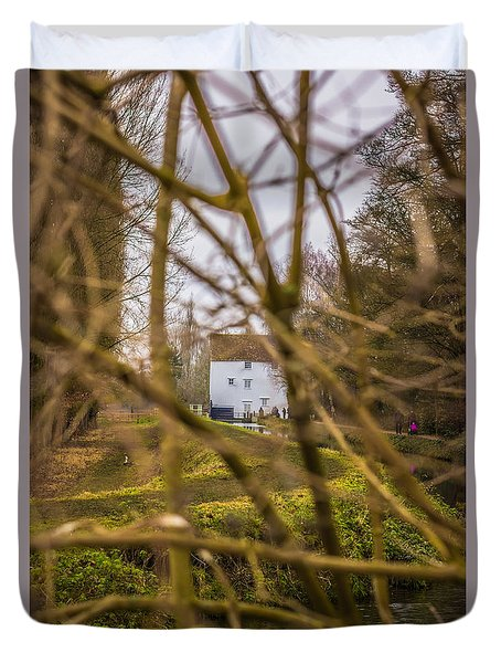 The Mill Through The Branches Duvet Cover by David Warrington