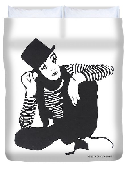 The Mime Duvet Cover