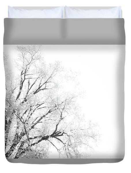 Duvet Cover featuring the photograph The Minimal Tree by Joel Witmeyer