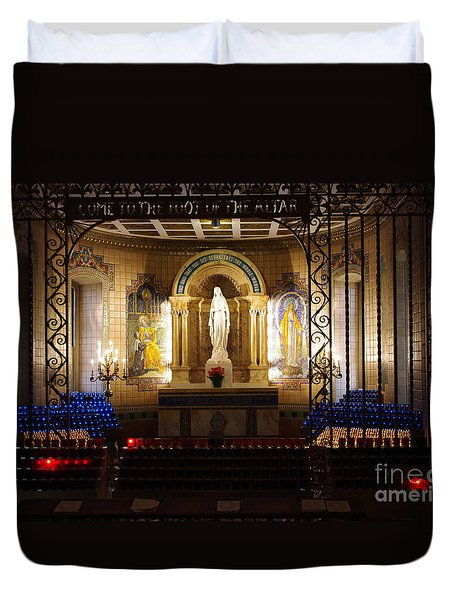The Miraculous Medal Shrine Duvet Cover