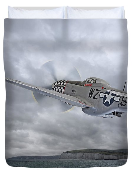 The Mission - P51 Over Dover Duvet Cover