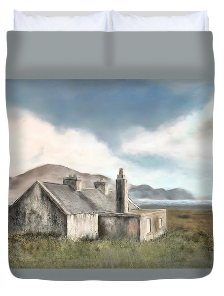 The Mist Of Moorland Duvet Cover by Colleen Taylor