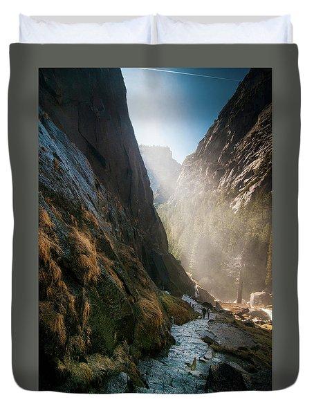 The Mist Trail Duvet Cover by Ralph Vazquez