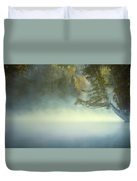 The Mists Of Hunt Lake Duvet Cover