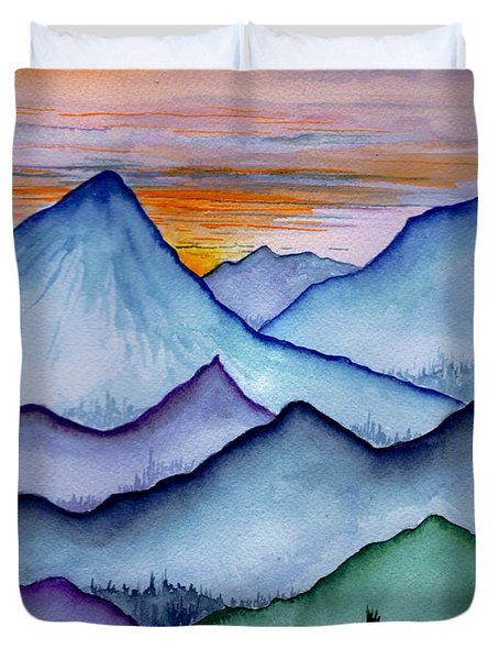 The Misty Mountains Duvet Cover
