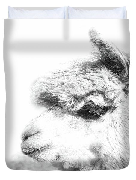 Duvet Cover featuring the photograph The Misty by Robin-Lee Vieira